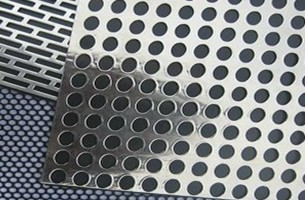 Red star perforated metal