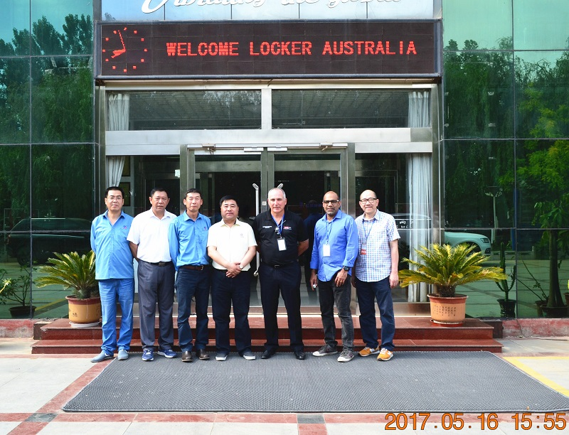 Warmly Welcome Locker Australia to visit our factory.